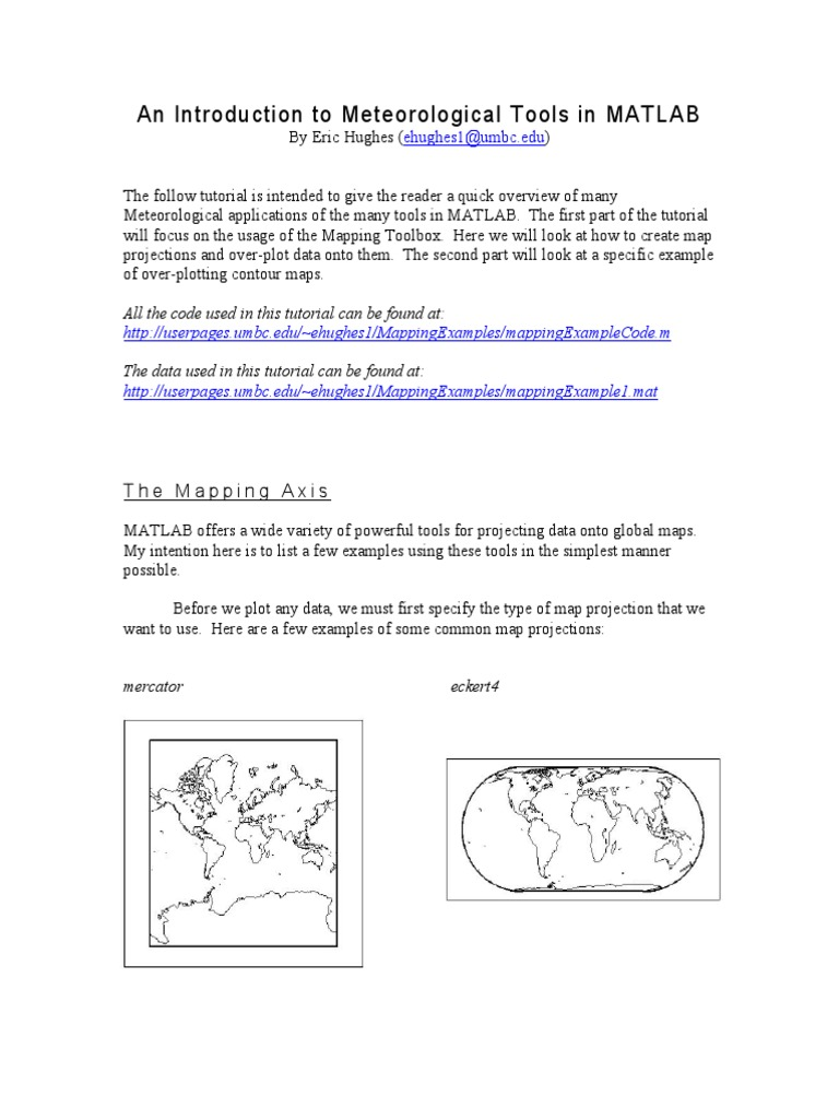 Using_Mapping_Tools_in_MATLAB pdf | Contour Line | Map