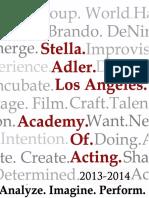 Stella Adler Student Brochure 2013