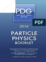 Particle Data Group - Particle Physics Booklet 2016