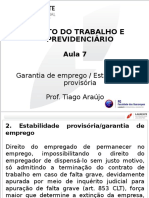 Direito do Trabalho - aula 7-1 - LAUREATE.ppt ESTABILIDADE.ppt