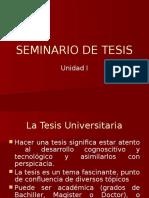 Seminario de Tesis - Unidad i