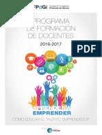 Programa Formacion Docentes 2016 2017 ESP