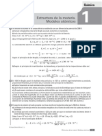 Tema 1 - Estructura de La Materia. Modelos Atómicos
