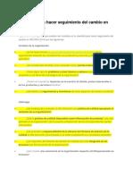 Checklist Para Hacer Seguimiento Del Cambio en ISO 9001