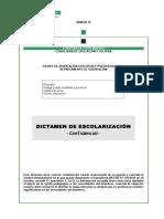 9 ANEXO IX Dictamen de Escolarizacion(1)