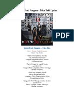 Kotak Feat. Anggun - Teka Teki Lyrics