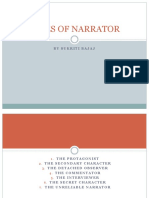Types of Narrator