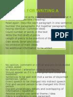 Guidelines for Writing a Precis