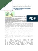 Ejercicios de Comprensión Lectora para Bachillerato.docx