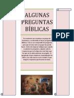 Algunas Preguntas de Biblia
