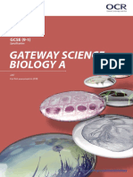 OCR GCSE Gateway Biology a Specification (2018) (J247)
