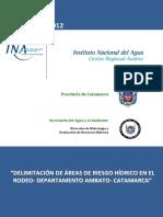 CRA Delimitacion Areas Riesgo Hidrico RODEO CATAMARCA