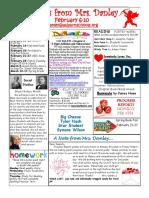 newsletter february 6-10