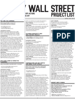 Occupy Wall Street - Project List (Issue 2) FINAL