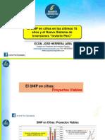 El SNIP en Cifras en Los Últimos 15 Años y El Nuevo Sistema de Inversiones Invierte Perú