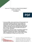 Role of It in Rural & Urban Development