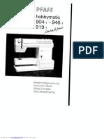 Pfaff Hobbymatic 9041 Instruction Book