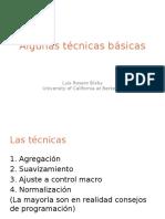 Algunas tecnicas basicas