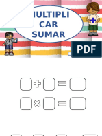 Cuaderno de Actividades Multiplicar Sumar Plantilla Editable