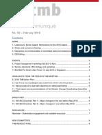 TMB Communiqué Issue Nr. 52 (February 2016)