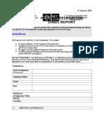 HoD Report Template 2015