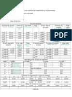 Ficha de Controle Dimensional de Motores