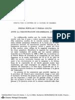 Poesía Popular y Poesía Culta Ante La Emancipación Colombiana (1781-1829)
