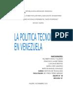 Gestion (u.06) La Politica Tecnologica en Venezuela