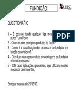 Questionário sobre Processo de Fundição.pdf