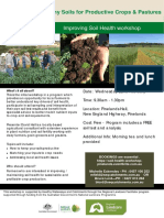 Soil Health Workshop 22nd Feb Flyer