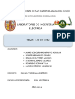 Laboratorio de La Ley de OHM