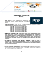 - Regulamento Técnico 2016 - FUTSAL