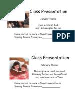 Class Presentation Reminders version 2