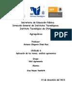 Aplicación de los temas, análisis agronomico