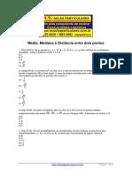 Geometria Analitica Distancia Entre Dois Pontos Media Mediana