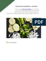 Tipos de Cortes Para Hortalizas y Verduras