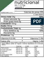 Etiqueta Nutricional 2 AYOTE