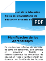 TALLER Planificación de La Educacion Física en El Subsistema