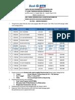 Jadwal Rekrutmen Calon COH RO 2 BTN