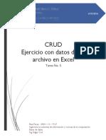 CRUD Ejercicio Con Datos de Un Archivo en Excel