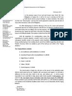 Taguig Initiative Letter