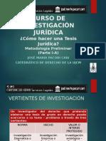 Curso de Investigación Jurídica - Como Hacer Una Tesis Jurídica - Autor José María Pacori Cari