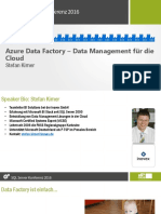 Azure Data Factory Stefan Kirner SQL Konf 02 2016