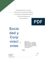 Sociedades y Corporacion Trabajo de Administracion