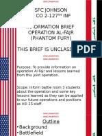 Fallujah INFO Brief short Presentation Version