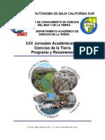 XXV JORNADAS ACADEMICAS DE CIENCIAS DE LA TIERRA UABCS. 2016