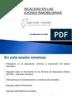 Juan Cerda - Fiscalidad en Las Operciones Inmobiliarias