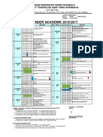 Kalender Akademik ITATS 2016 2017