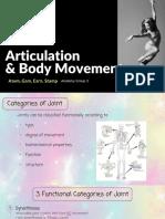articulation   body movement