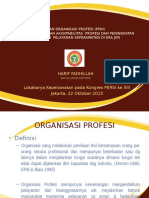 Peran Organisasi Profesi - Persi 2015